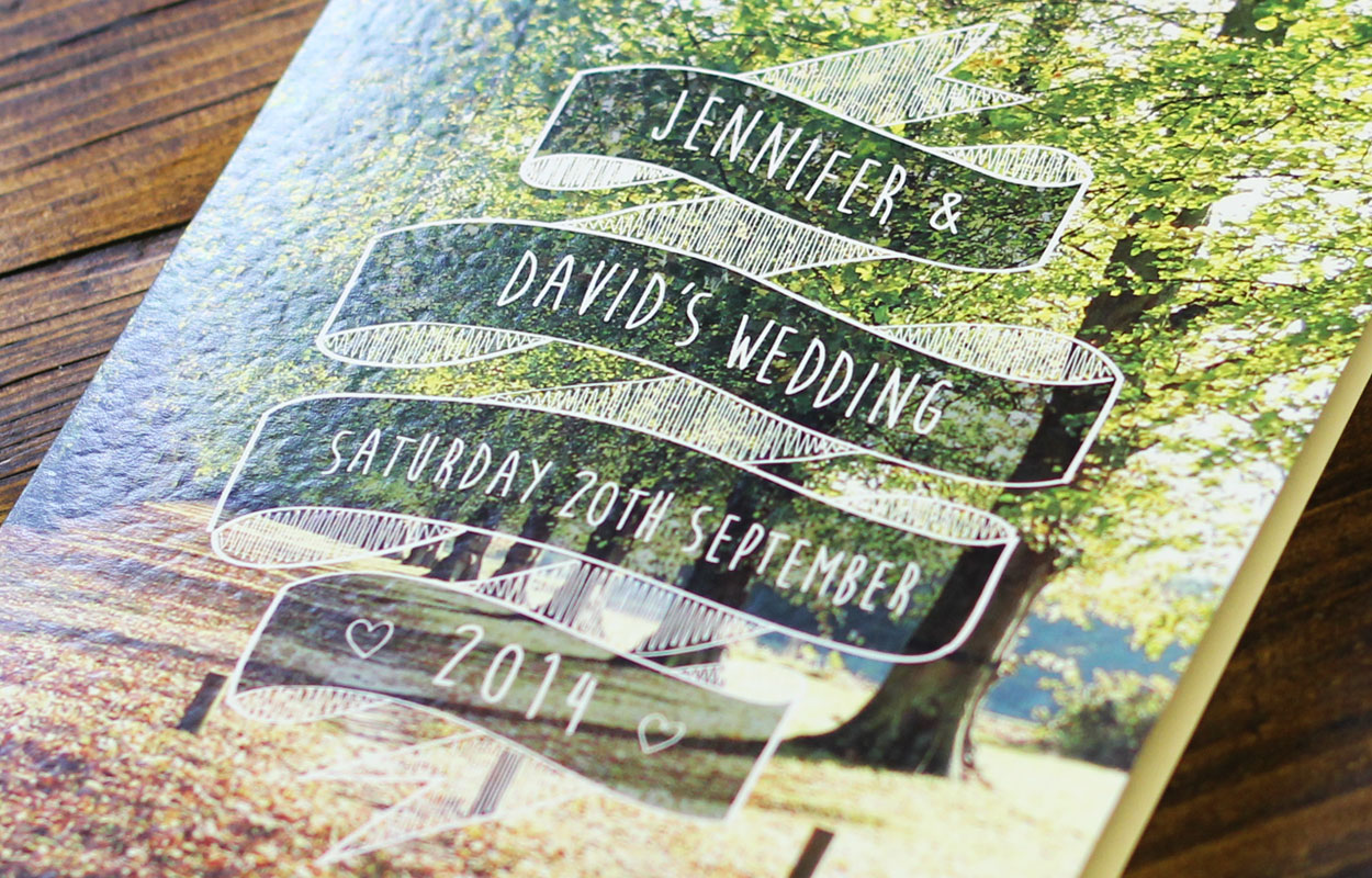 wedding stationery graphic design by tonik in sheffield